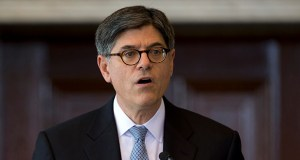 Treasury Secretary Jacob Lew speaks Sept. 4 in the Cash Room of the Treasury Department in Washington. The Obama administration has unvieled rules to discourage U.S. companies from shifting their legal addresses to other countries to reduce their U.S. taxes. The maneuver is known as a corporate inversion. (AP file Photo: Carolyn Kaster)