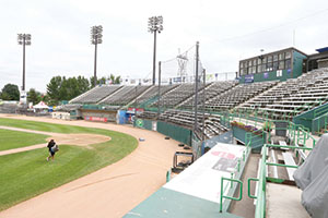 St. Paul Port Authority subsidiary Capital City Properties and United Properties are embarking on a joint venture to build a 190,000-square-foot building with a mix of office and warehouse or manufacturing space on the Midway Stadium site after the St. Paul Saints team moves to a new ballpark. (File photo: Bill Klotz)