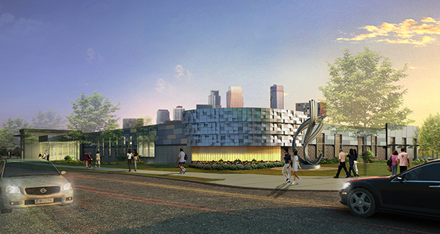 The Hennepin County service center at 1001 Plymouth Ave. N. in north Minneapolis, developed by the Ackerberg Group, won the award for a renovation project under 100,000 square feet. (Submitted rendering)