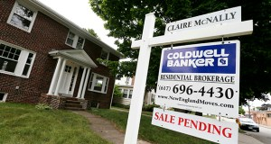 A sale pending sign is posted in front of a home for sale July 10 in Quincy, Mass. The National Association of Realtors seasonally adjusted pending home sales index fell 1 percent over the past month. (AP File Photo)