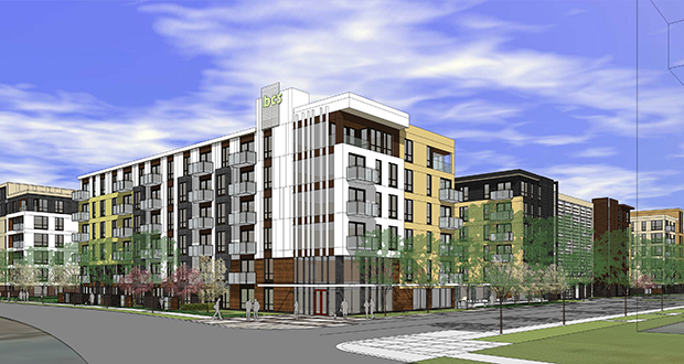 Lennar Multifamily Communities has proposed a 394-unit apartment complex at 8001 33rd Ave. S. in Bloomington. (Submitted rendering: ESG Architects)