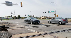 A $35 million interchange and grade separation from the Burlington Northern Santa Fe railroad tracks is planned at the intersection of U.S. Highway 10 and County Road 83 in Ramsey. Anoka County officials are worried about securing funding for other improvements to Highway 10 under new Metropolitan Council standards. (Staff photo: Bill Klotz)