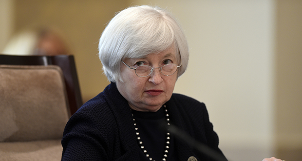 "Federal Reserve Chair Janet Yellen calls the new rules ""a very important regulation that will serve to strengthen the resilience of internationally active banking firms."" (AP Photo)"
