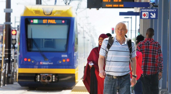 The Southwest Light Rail Transit line would be an extension of the Green Line, which began service in June between the downtowns of St. Paul and Minneapolis. (File photo: Bill Klotz)