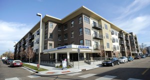 The 90-unit second phase of Gallery Flats, at 825 First St. S. in Hopkins, opened to its first tenants in September. (Photo: Craig Lassig)