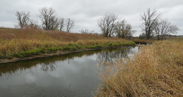 Rice Creek flows through the former Twin Cities Army Ammunition Plant site in Arden Hills. South of the creek, city officials say there could be about 1,465 total housing units on 170 acres where residential development could occur. (Staff photo: Bill Klotz)
