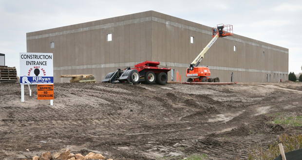 Launch Properties is planning two warehouse buildings totaling about 383,000 square feet for a site on the southwest quadrant of Highway 101 and 147th Avenue North in Rogers. The site is just north of where it's developing a 30,000-square-foot building for Turbine Pros (pictured). (Staff photo: Bill Klotz)