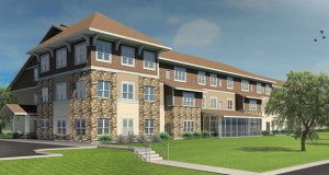 An Oct. 7 groundbreaking is set for this $13.4 million senior housing development at 500 W. Grant St. in Lake City. (Submitted rendering: Pope Architects)