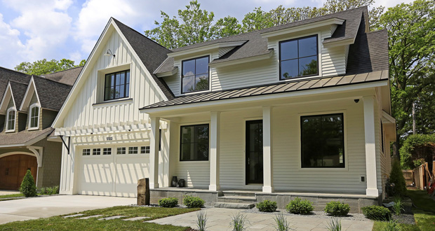 This home at 5512 Kellogg Ave. in Edina offers a modern spin on traditional farmhouse design, an approach that attracted buyers and helped it sell for $1.7 million. (Submitted photo: Refined LLC)