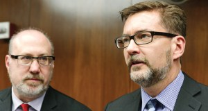 Rep. Frank Hornstein, DFL-Minneapolis, left, and Sen. Scott Dibble, DFL-Minneapolis, chaired the House and Senate transportation finance committees in the last legislative session. With the GOP takeover of the House, Hornstein will surrender his committee chair to Rep. Tim Kelly, R-Red Wing. (File photo)