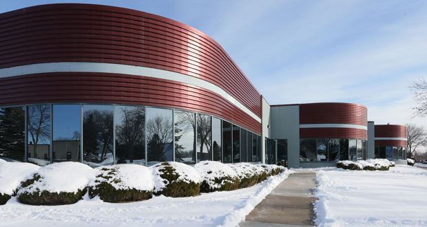The Tech West 55 building, at 14800 28th Ave. N. in Plymouth, was constructed in 1987. The building, fully occupied by Cargill, sold this month for $15.7 million. (Staff photo: Bill Klotz)