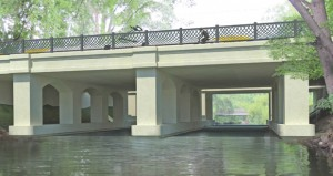 The arched pier concept for Kenilworth Channel bridge was designed to look like the other arched bridges in the Chain of Lakes area. (Submitted rendering: Metropolitan Council)