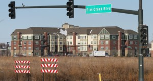 The Opus Group has withdrawn it's application to develop 40 acres on the northeast corner of Elm Creek Boulevard and Hemlock Lane in Maple Grove. The site is just south of Arbor Lakes Senior Living (background). (File photo: Bill Klotz)
