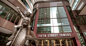 The Fifth Street Towers, at 100 and 150 Fifth St. S. in Minneapolis, include about 1.06 million square feet of office space. The buildings date to the 1980s. (File photo: Bill Klotz)