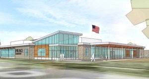 A renovated and expanded Palace Recreation Center, 781 Palace Ave. in St. Paul's West Seventh neighborhood, will include new program space and play areas. (Submitted rendering: Lawal Scott Erickson)
