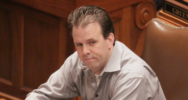 Rep. Pat Garofalo, R-Farmington, has successfully pushed a minimum-wage cap for restaurant servers through the House Job Growth and Energy Affordability Policy and Finance Committee, which he chairs. He acknowledges that he will, at some point, need to win over some DFL support. (Staff photo: Bill Klotz)