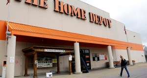 A customer walks toward a Home Depot in Nashville, Tenn. (AP file photo)