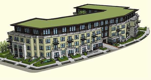 A joint development of Episcopal Homes, St. Mark's Cathedral and the Episcopal Church in Minnesota is proposing a 58-unit senior apartment complex at 1730 Clifton Ave. in Minneapolis. (Submitted rendering: Cuningham Group)
