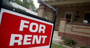 "A ""for rent"" sign is posted outside a home Sept. 24, 2007, in Denver. Real estate data firm Zillow reported Friday that January home rental prices dipped in parts of the Midwest. (AP Photo: David Zalubowski)"