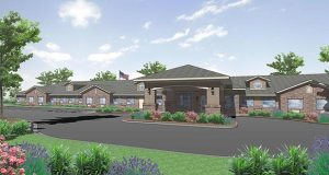 Vancouver, Washington-based JEA Senior Living plans to break ground this month on this design for Edgemont Place, a $10 million, 68-unit memory care facility at 11748-11760 Ulysses Lane NE in Blaine. (Submitted image: JEA Senior Living)