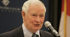Governor General David Johnston, the highest-ranking Canadian official to visit Minnesota, called for increased partnership between Minnesota and his home country at an Economic Club luncheon on Monday. (Staff photo: Bill Klotz)