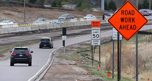 """Cars drive onto Interstate 494 on Friday from Rockford Road. Minnesota Gov. Mark Dayton has proposed an $11 billion plan for roads, bridges and transit that raises taxes. """"It's not going to come from the federal government,"""" Dayton said in February. """"It's not going to come from the sky, so it's going to have to come from us."""" (Staff photo: Bill Klotz)"""