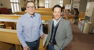 """Richard Graves, left, is the new director of the University of Minnesota's Center for Sustainable Building Research, and William """"Billy"""" Weber is a senior research fellow. The center is at 1425 University Ave. SE in Minneapolis. (Staff photo: Bill Klotz)"""