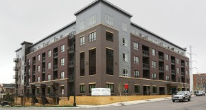 The 140-unit Paxon, at 360 N. First St. in Minneapolis, opened to tenants in January. The building is about 40 percent leased. (Staff photo: Bill Klotz)