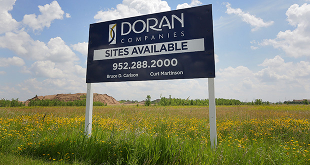 Doran Cos. is planning apartments, hotels, retail and possibly office space on the 40-acre site on the northeast corner of Elm Creek Boulevard and Hemlock Lane in Maple Grove. (Staff photo: Bill Klotz)