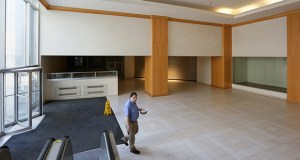 An unidentified man walks through the former Macy's store in downtown St. Paul in this February photo. The Minnesota Wild's leadership continues to negotiate with the St. Paul Authority to develop a practice facility in part of the vacant store. (File photo: Bill Klotz)