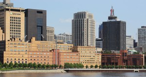 The Ramsey County board on Tuesday increased to $15 million the budget for demolition of the former Government Center West and Ramsey County Adult Detention Center buildings along the Mississippi River in downtown St. Paul. (File photo: Bill Klotz)