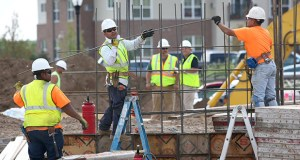 Construction continued June 25 at the Skye at Arbor Lakes in Maple Grove, one of many projects in the Twin Cities that includes apartments. The U.S. Commerce Department said Friday that multi-family housing starts surged 28.6 percent in June. (Staff photo: Bill Klotz)