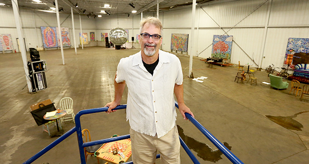 Bryn Mawr Brewing Co. cofounder Dan Justesen shows the forthcoming brewery's space, at 225 Thomas Ave. N. in Minneapolis. With a lease in place, Justesen said it was time to launch a fundraising campaign using less restrictive federal securities rules that allow the brewery to advertise to accredited investors. (Staff photo: Bill Klotz)