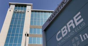 CBRE Group Inc., which has its Twin Cities office at 4400 West 78th St. in Bloomington, has seen its stock lose 8 percent this month through last week due to the prospect of a slowdown in real estate transactions. (File Photo)