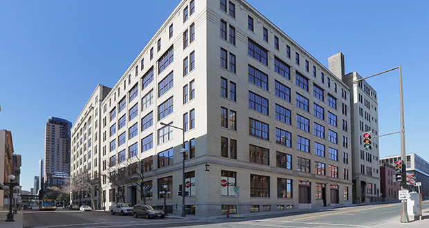 Sherman Associates transformed a building once used as a parking garage and as the home of the Rayette Company, manufacturer of Aqua Net Hairspray. The original structure was completed in 1909 in downtown St. Paul. (File photo: Bill Klotz)