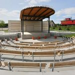 The new amphitheater in the Minnesota State Fair's West End Market was built in the former Heritage Square area. (Staff photo: Bill Klotz)