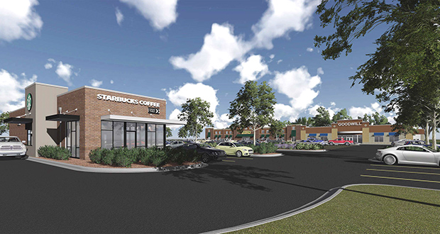 Oppidan plans a spring or early summer 2016 opening for this new retail development at the southeast corner of Highway 55 and Vicksburg Lane in Plymouth. (Submitted rendering)