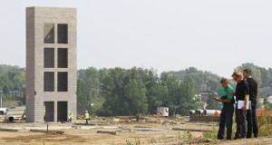 The CityPlace development site in Woodbury is seeing more construction activity, including this elevator shaft for a 116-room Residence Inn by Marriott, north of the old State Farm building. The development site is on the southeast quadrant of Radio Drive and Interstate 94. (Staff photo: Bill Klotz)