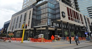 The allure of the 26-story Nic on Fifth is its transit-oriented lifestyle. The Blue and Green light rail lines literally stop at The Nic's doorstep, buses are just a few paces away, and the building is connected by skyway. (File Photo: Craig Lassig)