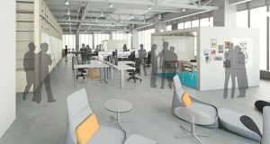 """Perkins+Will's new workplace at the IDS Center in downtown Minneapolis will """"give our designers the most flexibility to innovate with clients,"""" said Dave Dimond, the company's design director. (Submitted rendering: Perkins+Will)"""