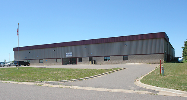 Snobear USA Inc., a maker of off-road motorized ice fishing houses, has acquired this building at 1 Enterprise Ave. in Isanti as its new headquarters. (Submitted photo: CoStar)