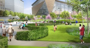 Planners on Wednesday made slight design tweaks and solidified construction plans for Downtown East Commons, a 4.2-acre downtown park bordered by Park Avenue, Fourth and Fifth streets and Fifth Avenue in Minneapolis. (Submitted rendering: Hargreaves Associates)