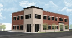 Rochon Corp. has started construction of its new headquarters building at 28 Second St. NW in Osseo. Submitted rendering: Mohagen Hansen/Rochon Corp.