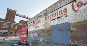 Loosened liquor rules are the signature piece of a proposal that would transform the former Schmidt brewery's keg house into a market that would include indoor and outdoor features, with restaurants, room for a butcher, a baker and a variety of other vendors. File photo: Bill Klotz