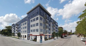 """CPM's proposal to build a five-story apartment building would feature one- and two-bedroom units that cater to """"market rate"""" renters. (Submitted rendering: DJR Architects)"""