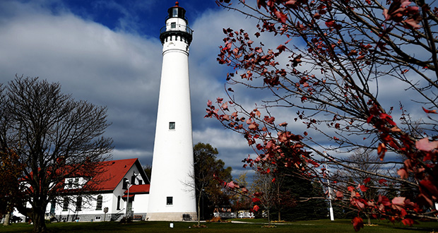 Racine County for the first time is allocating money to the Wind Point Lighthouse to help with a host of maintenance needs, including work on the roof and gutters and rebuilding the north chimney. (AP photo: Gregory Shaver/The Journal Times)