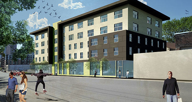 The Great River Landing Project, slated for 813 N. Fifth St., is one of 11 affordable housing projects in line to receive funding from the city of Minneapolis' affordable housing pool. (Submitted rendering: Beacon Interfaith Housing Collaborative)
