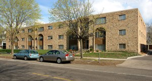 The Minnehaha Apartments at 1605 and 1625 Minnehaha Ave. W. in St. Paul, which lie across the street from Hamline University, have sold to a California investor for $5.1 million. Submitted photo: CoStar