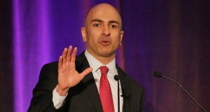 Neel Kashkari, president of the Federal Reserve Bank of Minneapolis, on Tuesday affirmed his plans to pursue tougher regulation of major U.S. banks at an investor meeting for regional economic development group Greater MSP held at the JW Marriott hotel at the Mall of America. (Staff photo: Bill Klotz)
