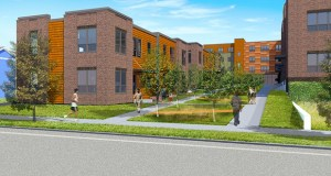 The city of Minneapolis approved a $722,300 tax increment financing package Friday for a 75-unit affordable apartment complex in north Minneapolis, part of the broader Hawthorne EcoVillage development. (Submitted rendering: Project for Pride in Living)
